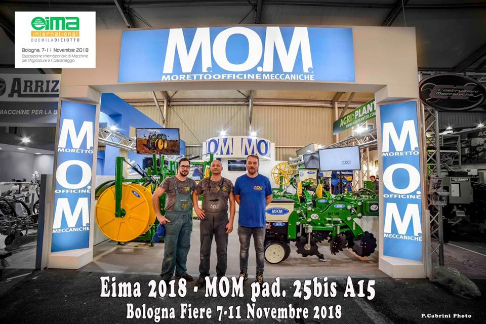 MOM - agriculture machines Verona - at Eima international 2018 [foto stand fiera]