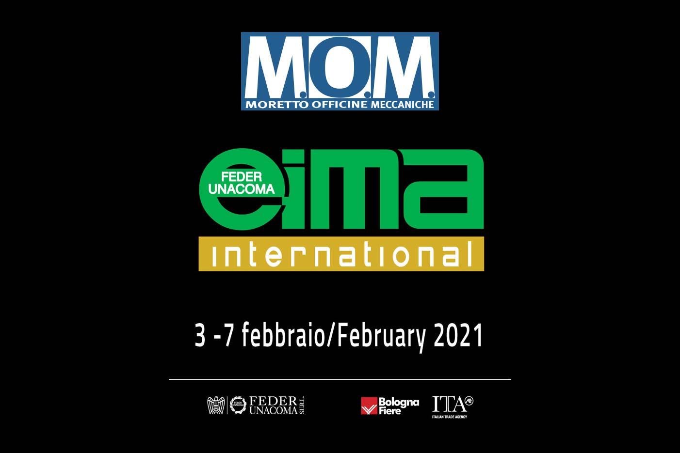MOM - agriculture machines Verona - at EIMA 2021 [foto stand fiera]
